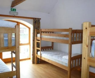 a typical bunkroom