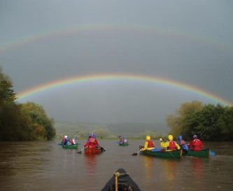 Canoeing on the local section of the river Wye