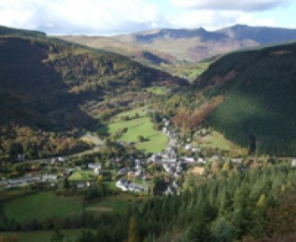 The village of Corris, on the edge of Snowdonia