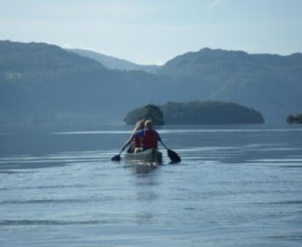 Canoeing on Derwent Water