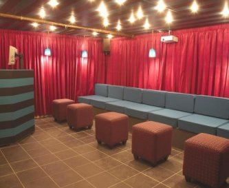 The Leisure Lounge with DJ Decks and karaoke