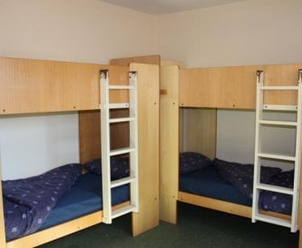 Bunkroom style accommodation x 28 beds over 5 room