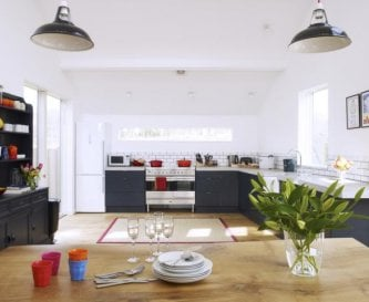 Huge sociable open plan kitchen diner