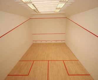 De-stress in our squash court