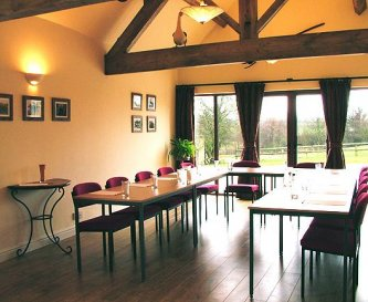 Meeting room at Offley Grove Farm