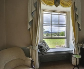 View the beacons over the front lawn from bedroom