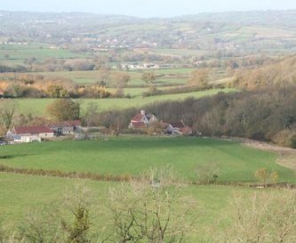 Folly Farm Centre, view from East Hill