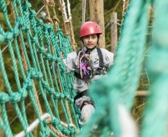 Enjoy activities such as aerial trek and archery