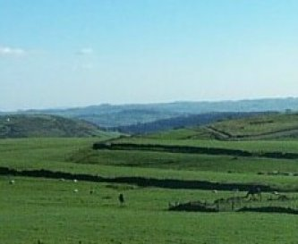 Superb views over open countryside.