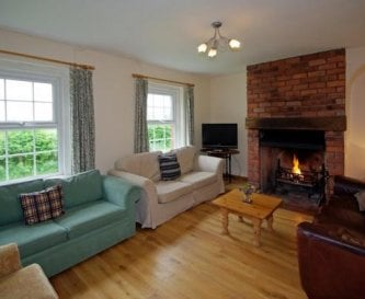 One of two cosy sitting rooms