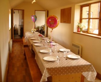 Large table for group celebrations