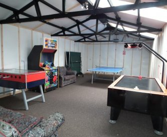 Lots of fun to be had in the large games room