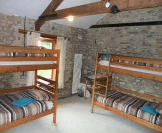 Bunk style rooms with shared facilities