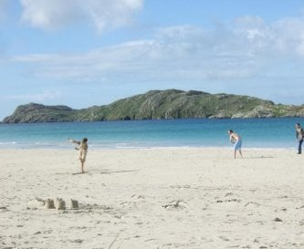 Cricket on one of the many beautiful beaches.
