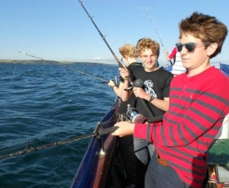 Dinner on the hook, fishing trip out of Fowey