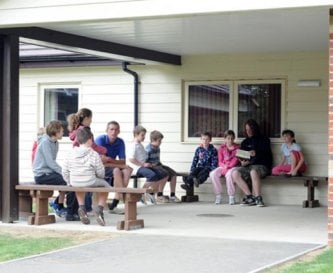 Briefing area outside Ben's House