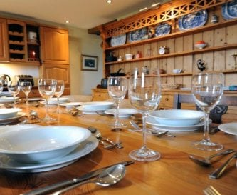 Contemporary dining in The Stables