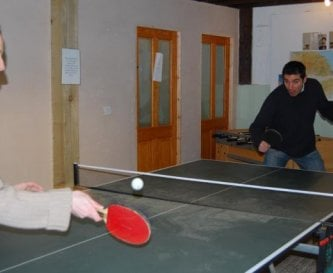 Table tennis, next door to the fitness gym