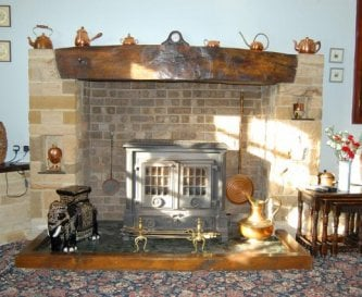 The Manor House Lounge fire place