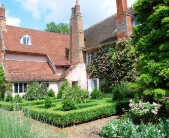 The beautiful gardens and rear of Blo Norton Hall