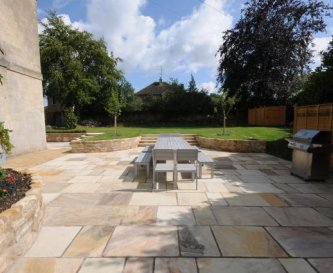 The Patio - seating for 16 and the gas barbecue