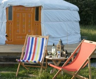 Relaxation at the yurts