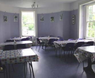 The dining room seats up to 40 people