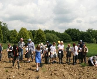 Field walking for flints & pottery on history day