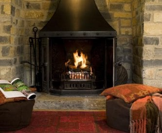 Lovely inglenook fireplace - all logs provided