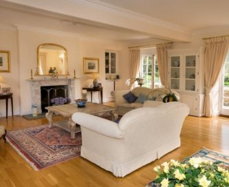 The main sitting room, overlooks the valley.