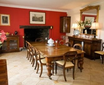 The Dining Hall with Inglenook fireplace.