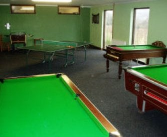 Games Room - pool, snooker, table tennis, darts