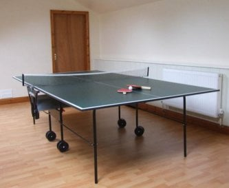 Games room with table-tennis.