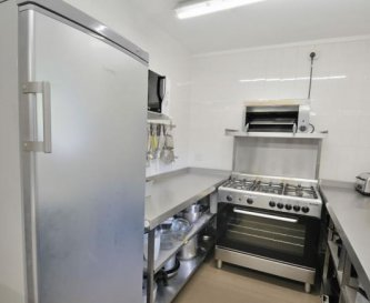 One of our two kitchen areas