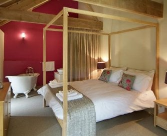 The Great East Barn master bedroom