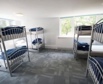 A childrens dormitory room