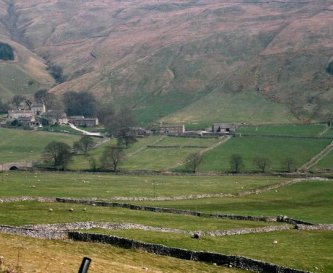 Looking across Littondale to Halton Gill Bunkbarn