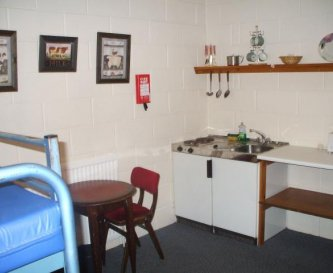The leaders room with kitchenette