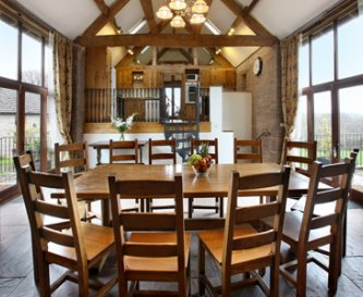 Holt Barn Dining Hall where 22 can dine together
