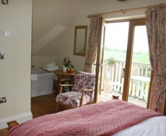 Guest bedroom at Timberstone self catering