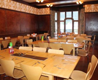 Our dining room can seat up to 80 people