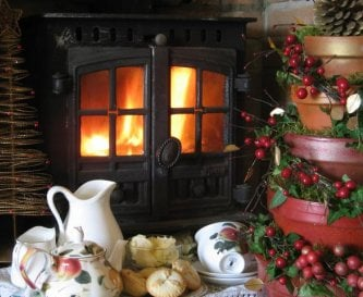 Warm and cosy by the woodburner in the lounge