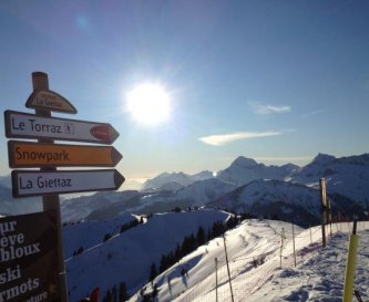 Beautiful Alpine Views in La Giettaz