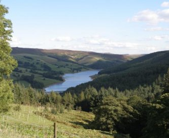 View of Ladybower Reservoir from the centre