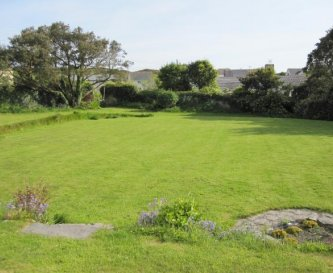 The shared garden / croquet lawn.