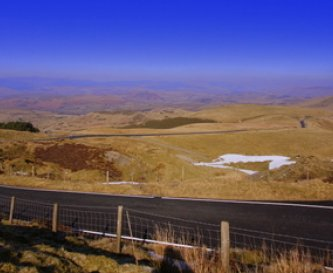The mountain road from Machynlleth