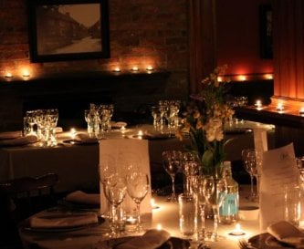 You can hire caterers for the evening for dinner