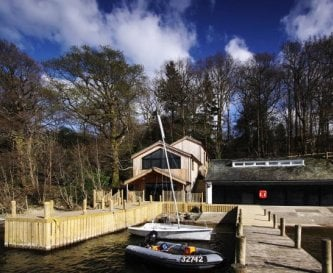 New barrier free boathouse on Windermere.