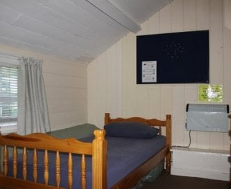 One of the cottage bedrooms