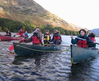 Guests on a canoe trip on Ullswater Oct 2012